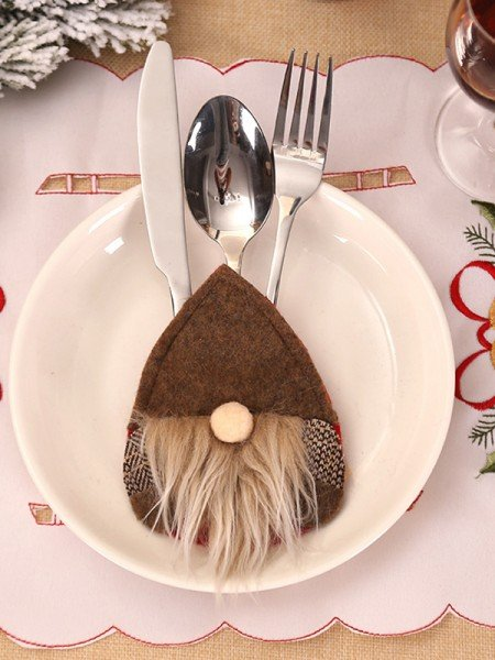 Christmas Hot Sale Santa Claus Wool Cutlery Cover