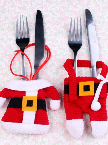 Christmas New Hot Santa Claus Cloth Cutlery Cover