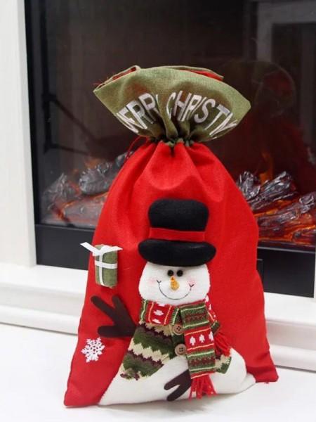 Christmas Trending Snowman Linen Bags