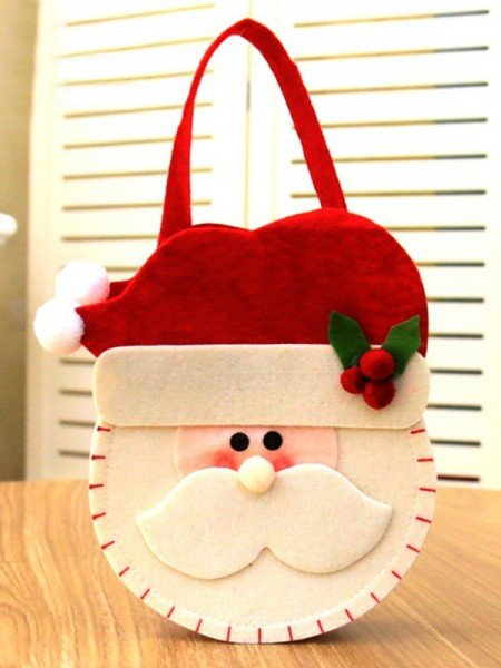 Christmas Chic Nonwoven Fabric With Santa Claus Bags