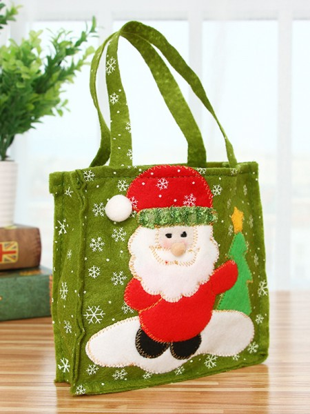 Christmas Stunning Nonwoven Fabric With Santa Claus Bags