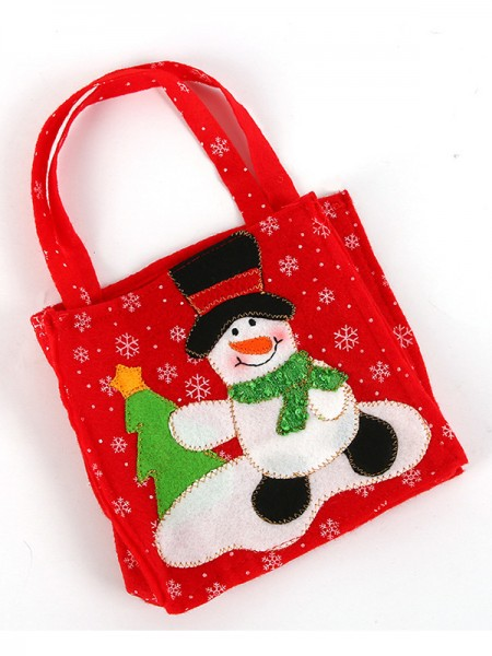 Christmas Attractive Nonwoven Fabric With Snowman Bags
