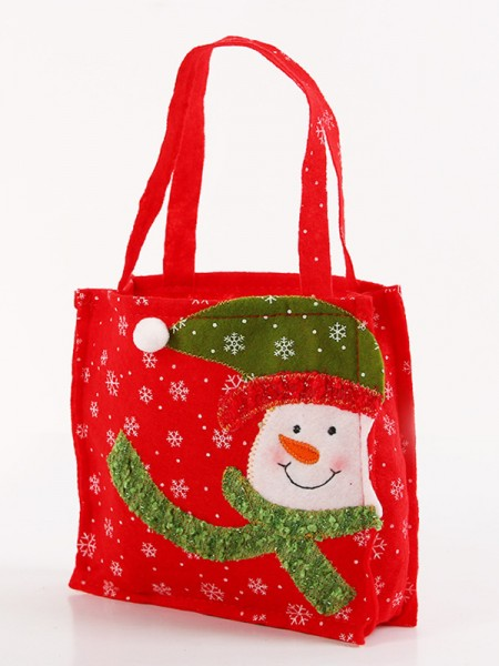 Christmas Trending Nonwoven Fabric With Snowman Bags