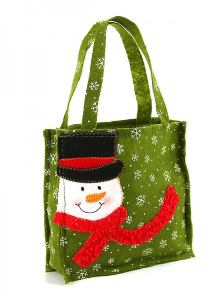 Christmas Unique Nonwoven Fabric With Snowman Bags