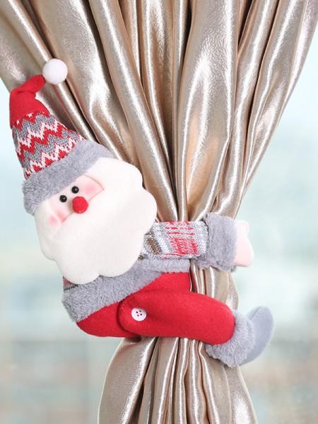 Christmas Hot Sale Santa Claus Cloth Curtain Button