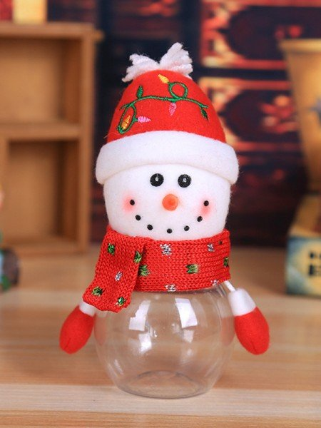 Christmas Fashion Snowman PVC Candy Can(4 Pieces)