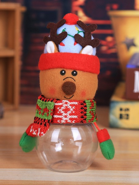 Christmas Trending Deer PVC Candy Can(4 Pieces)