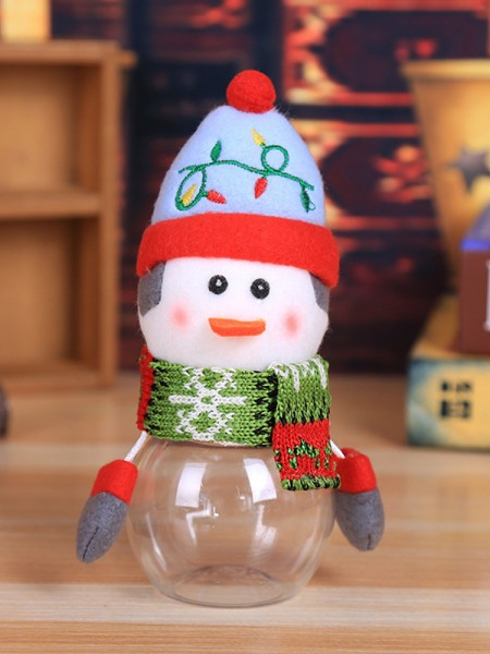 Christmas Hot Sale Snowman PVC Candy Can(4 Pieces)