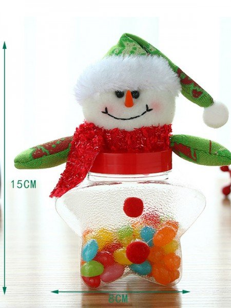 Sweet Artificial Fur With Snowman Christmas Decoration(Without Candies)
