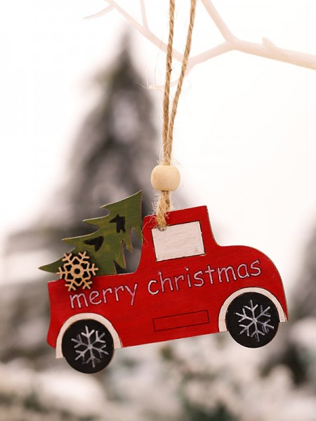Christmas Trending Car Wood Pendants(5 Pieces)