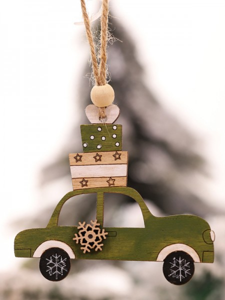 Christmas Hot Sale Car Wood Pendants(5 Pieces)