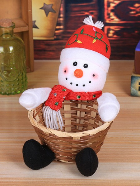 Chic Cloth With Snowman Christmas Decoration