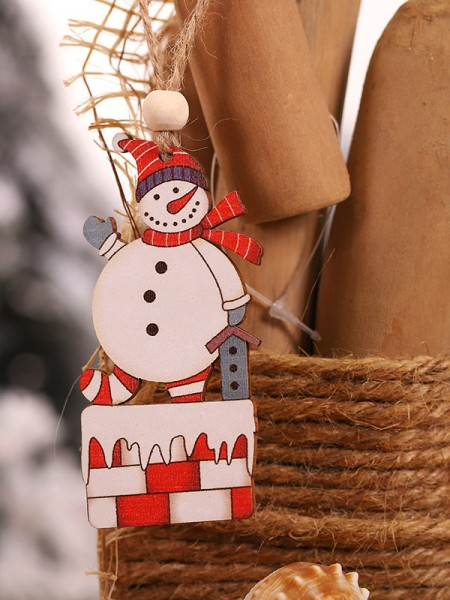 Christmas Trending Snowman Wood Pendants(2 Pieces)