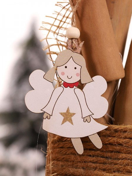 Christmas Fashion Snowman Wood Pendants(2 Pieces)