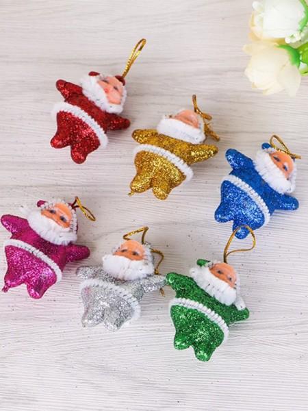 Christmas Excellent Santa Claus Pendants(6 Pieces)