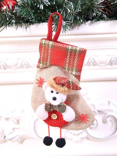 Charming Cloth With Bear Christmas Decoration