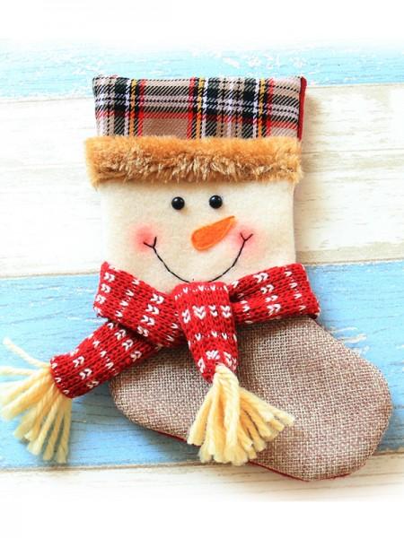Glamorous Cloth With Snowman Christmas Decoration