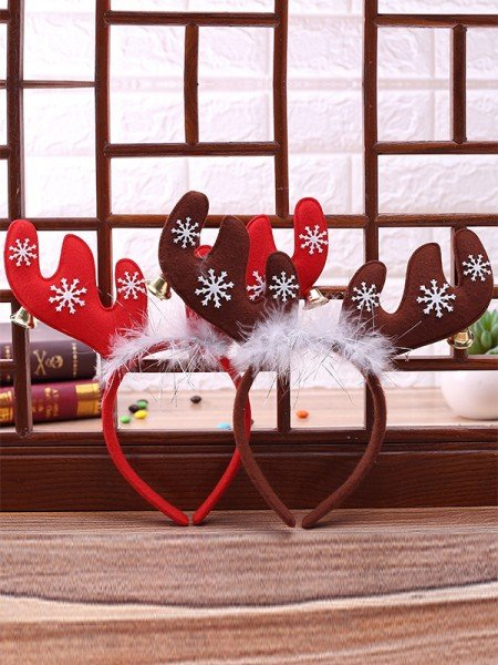 Christmas Charming Cloth With Antler Headpieces
