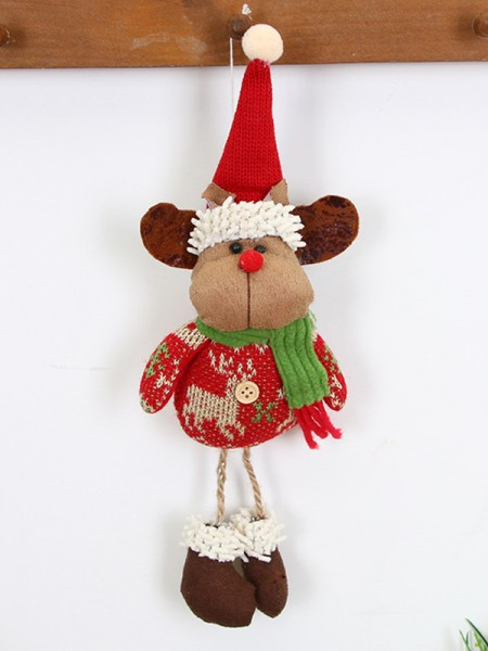 Christmas Pretty Good Deer Cloth Pendants