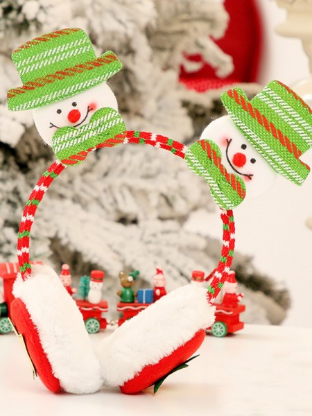 Christmas Cloth With Snowman Headpieces