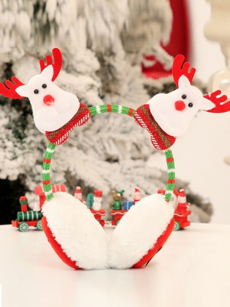 Christmas Cloth With Wapiti Headpieces