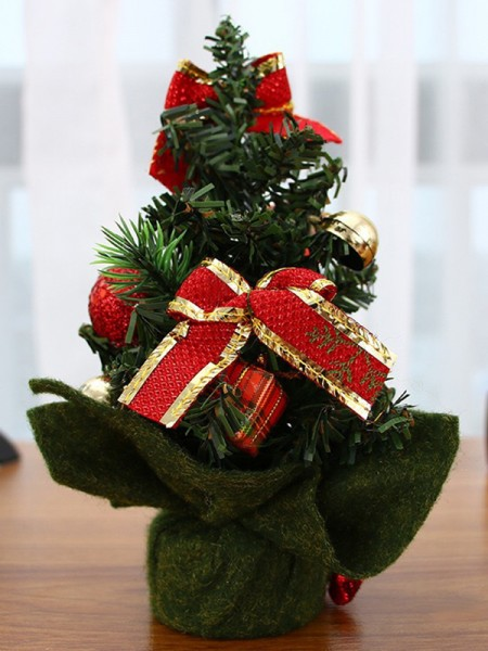 Stylish PVC With Bowknot/Hand-Made Flower Christmas Tree