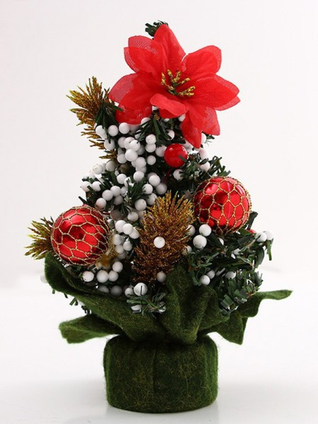 Glamorous PVC With Hand-Made Flower Christmas Tree