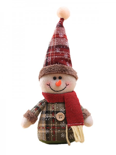Exquisite Cloth With Snowman Christmas Decoration