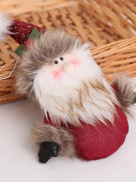 Lovely Cloth With Santa Claus Christmas Decoration