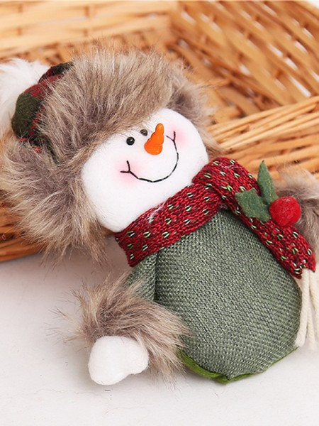 Cute Cloth With Snowman Christmas Decoration