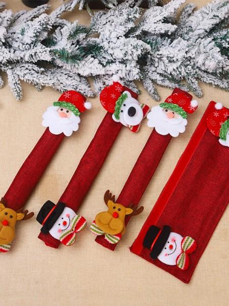 Christmas Fancy Cloth Fridge Magnets