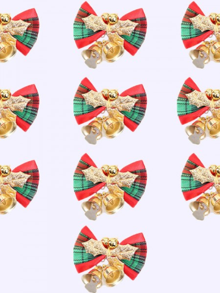 Christmas Lovely Bowknot Cloth Christams Decoration(2 Pieces)