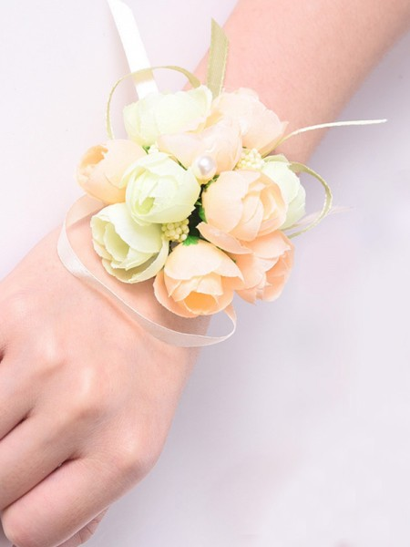 Fashion Silk Flower Wrist Corsage