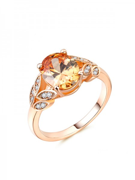 Trending Copper With Zircon Hot Sale Wedding Rings
