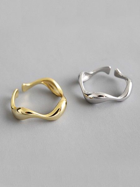 Simple S925 Silver Hot Sale Adjustable Rings