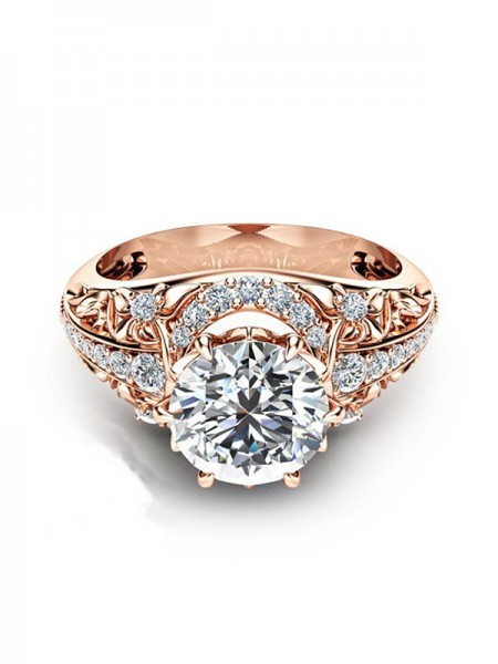 Beautiful Copper With Zircon Hot Sale Wedding Rings