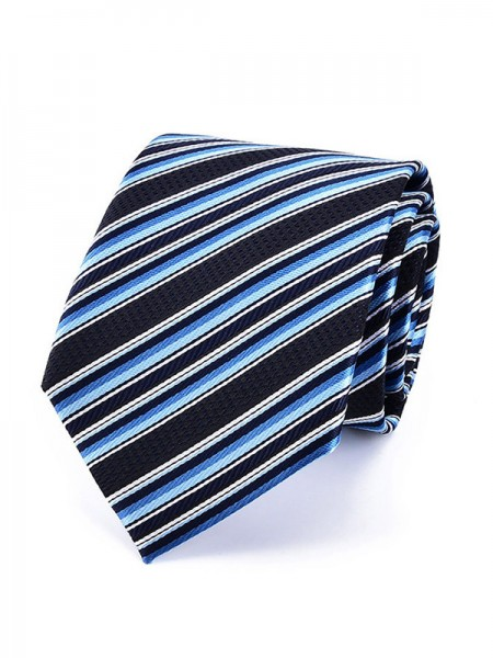 Vintage Polyester Striped Tie