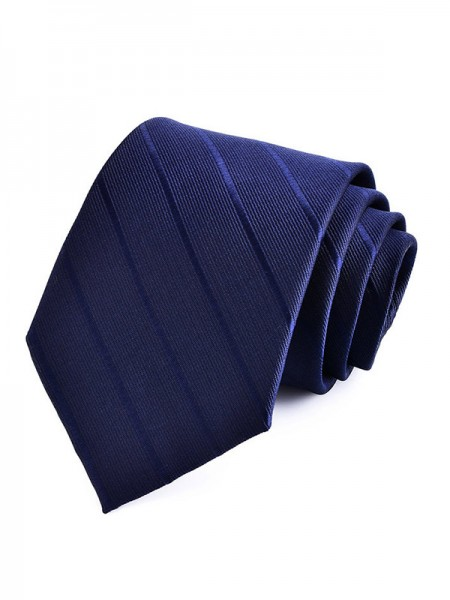 Modern Polyester Striped Tie
