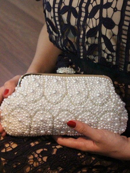 Luxurious Imitation Pearl Evening/Party Handbags