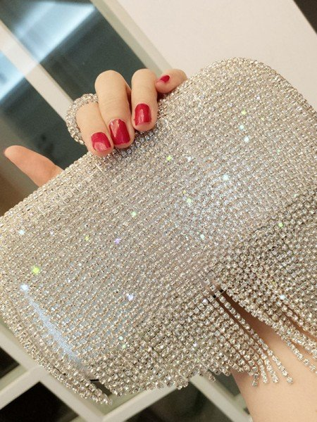 Fashion Metal Evening/Party Handbags With Rhinestone