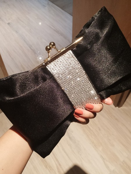 Trending Metal Evening/Party Handbags With Rhinestone