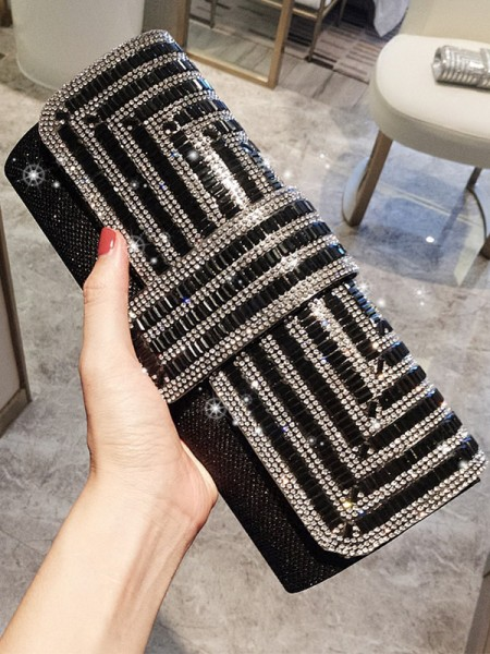 Pretty PU Evening/Party Handbags With Rhinestone