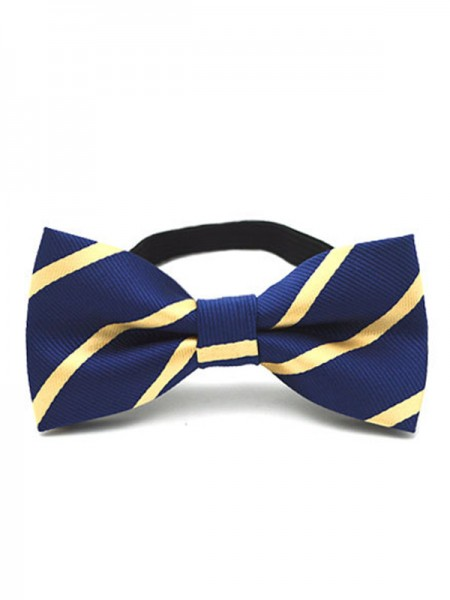 Cute Striped Polyester Bow Tie For Children