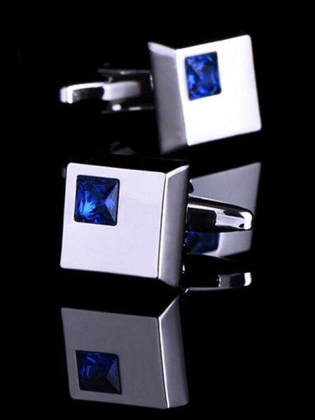 Modern Style Copper Rhinestone Mens Cufflinks