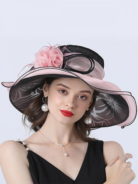 Ladies' Fashion Organza Flower Kentucky Derby Hats/Tea Party Hats