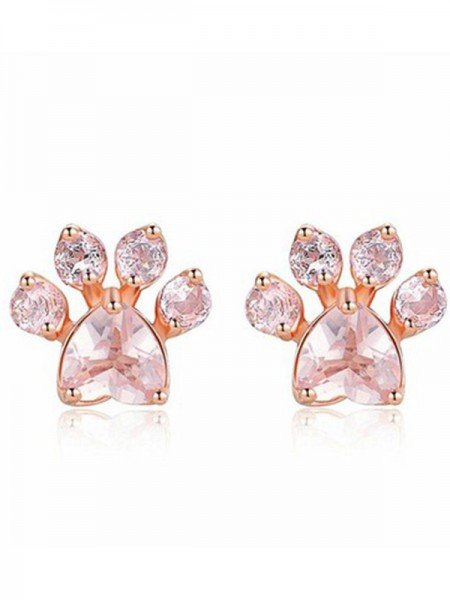 Brilliant Alloy With Zircon Earrings For Women