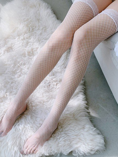 Charming Net Transparent Stockings Uniform