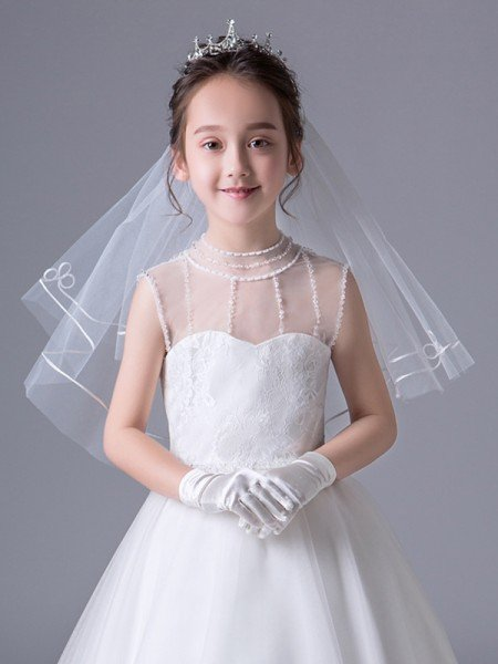 Lovely Tulle Flower Girl Veils