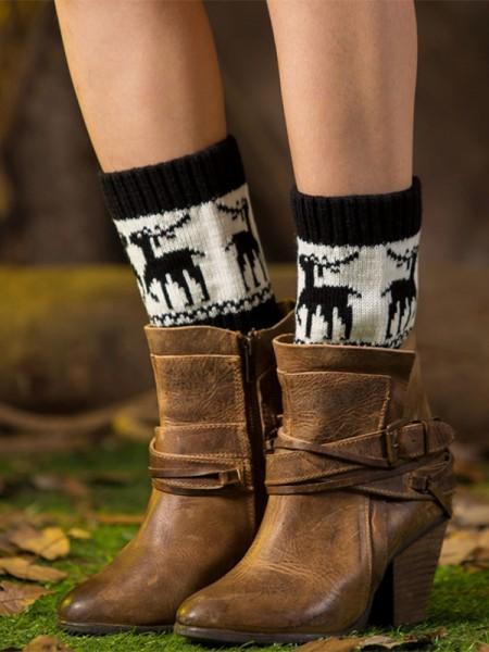 Christmas Stunning Acrylic With Deer Socks