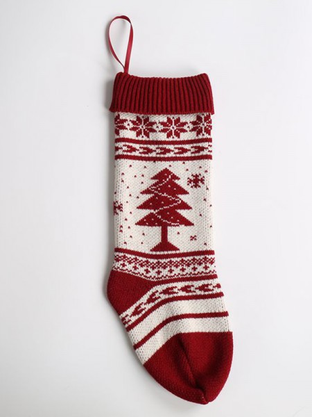 Christmas Lovely Acrylic With Christmas Tree Socks